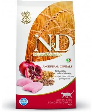 N&D Low Grain CAT Neutered Chicken&Pomegranate 1,5kg