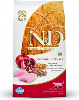 N&D Low Grain CAT Adult Chicken &Pomegranate 10kg