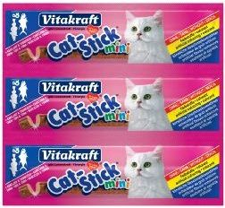 Vitakraft CAT stick MINI 3ks LOSOS + PSTRUH