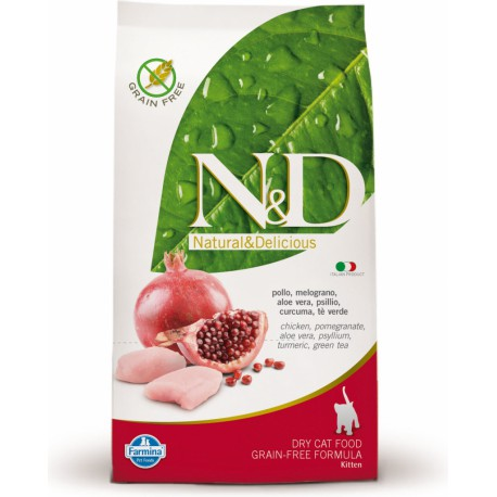 N&D Grain Free CAT KITTEN Chicken & Pomeg 1,5kg