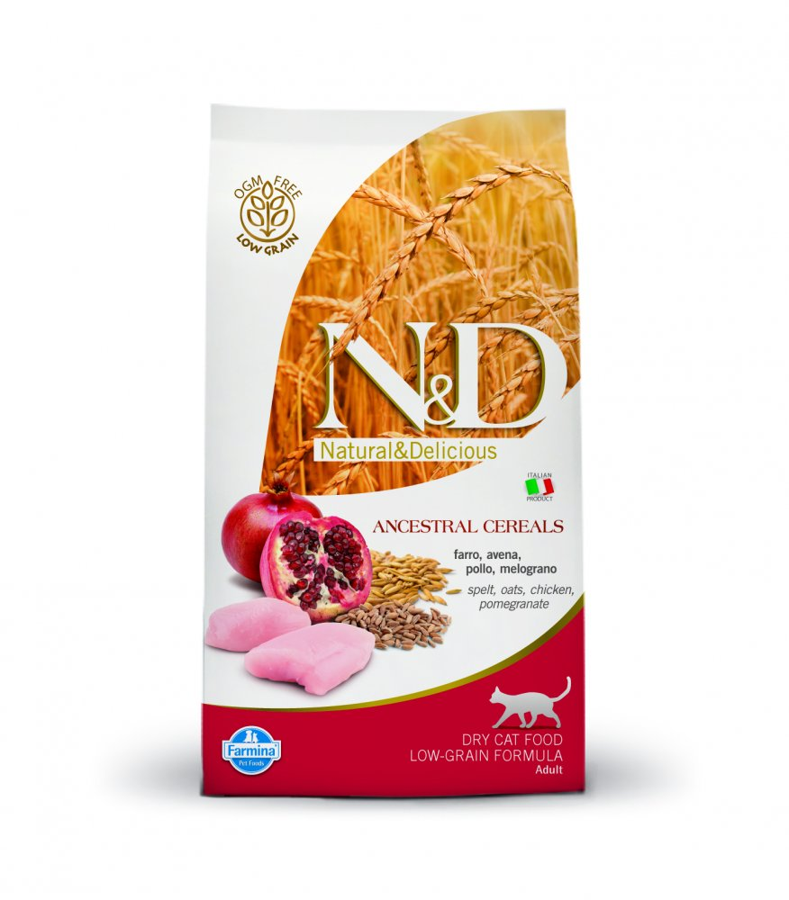 N&D Low Grain CAT Adult Chicken &Pomegranate 5kg