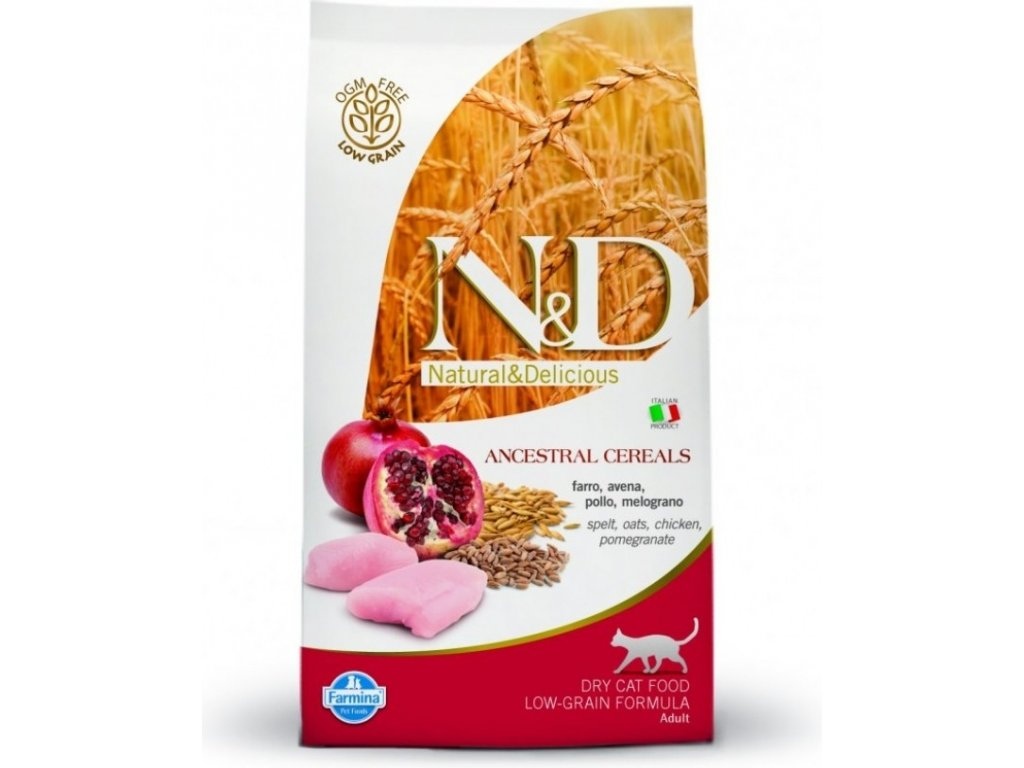 N&D Low Grain CAT Neutered Chicken&Pomegranate 5kg
