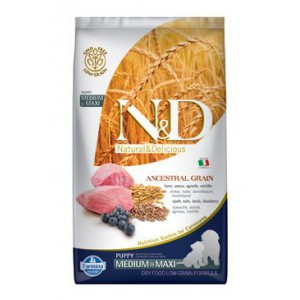 N&D Low Grain DOG Puppy M/L Lamb & Blueberry 2,5kg